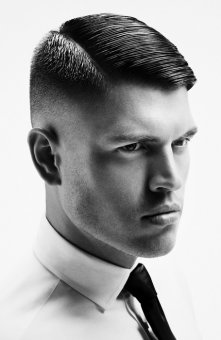 a flawless men's tight tapered haircut