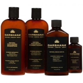 All Darshana natural hair care items. Natural Indian Hair oil. Normal Moisturizing Shampoo and Conditioner.