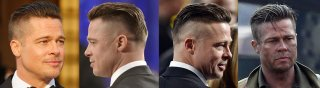 Brad Pitt Fury guys's Haircuts and Hairstyles
