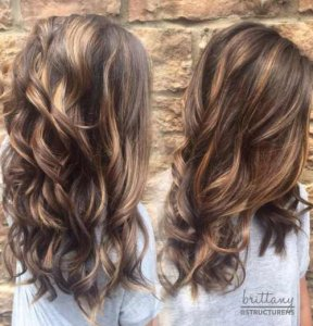 brown locks with caramel features