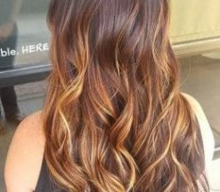 brown locks with fantastic blond ombre features