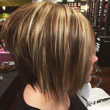 choppy layered bob with shows