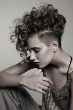 curly mohawk for ladies