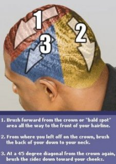 Diagram showing ways to get 360 waves hairstyle by cleaning the perverted locks