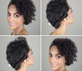 easy asymmetrical updo for all-natural tresses