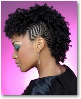 elegant braided fauxhawk for all-natural locks