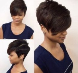 extra quick black colored bob haircut