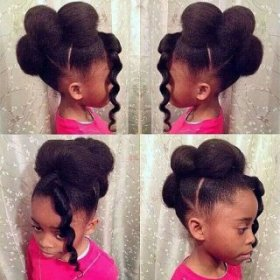 faux hawk updo for small black colored women