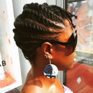 flat twists updo concerning natural hair