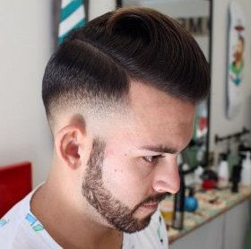 formal lengthy top short edges hairstyle for males