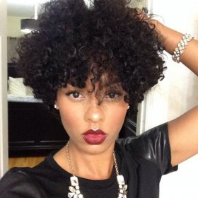 Beautiful Curly Hairstyle - African US Haircuts for Women and Girls