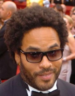 Lenny Kravitz with a normal black men haircut.