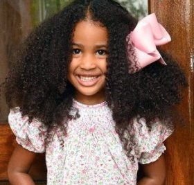 long natural black colored girl hairstyle