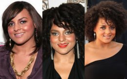 Marsha Ambrosius straight curly natural locks