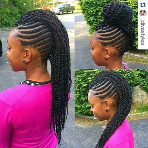 mohawk from twists