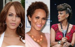 Nicole Ari Parker straight curly fro TWA natural tresses