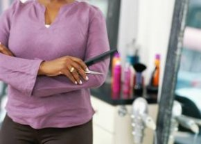 See a stylist for relaxer application. - George Doyle/Stockbyte/Getty photographs