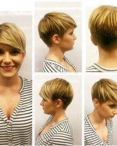 Short Haircuts with Side Bangs - Quick Hairstyles for Heart Face or Round Face Shape