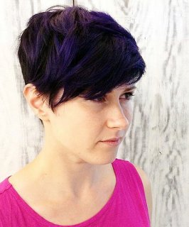 brief pixie hairstyle