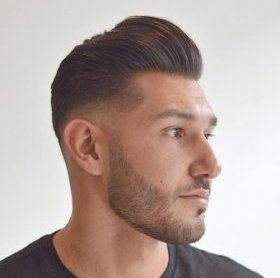 brief Pompadour with a Fade