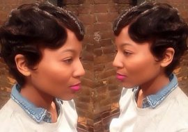 short classic hairstyle for African US women