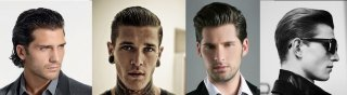 Slicked straight back Mens Haircuts and Hairstyles