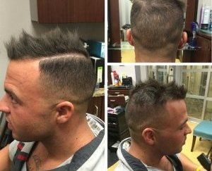 spiky Mohawk for males with hair thinning