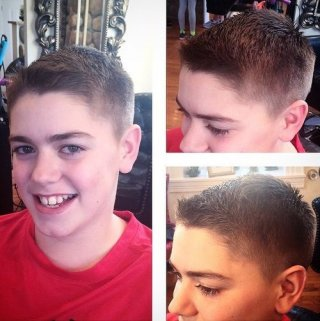 conventional Brush-Cut Guys Hairstyle For 12 year-old