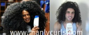 Troy Polamalu and Rogelio depicting dry wild hair from hair care usage