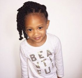 twist hairstyle for small black colored women